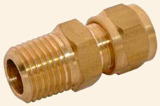 Brass Male Compression studs tube pipe couplers couplings